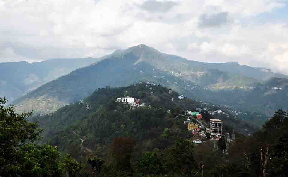 Summit on a hill