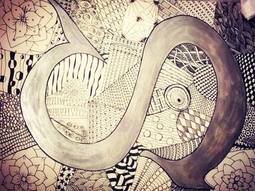 draw a zentangle cintangle