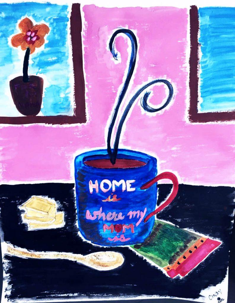 the coffee mug that represents love