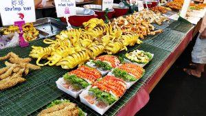Seafood galore in Bangkok - squid