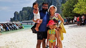 At Phi Phi Don with kids