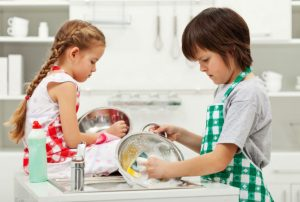 Teaching our kids that house chores are not gender specific