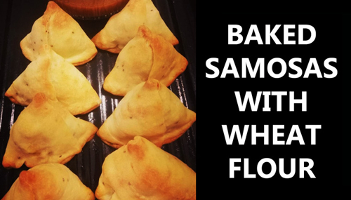 baked samosa with wheat flour