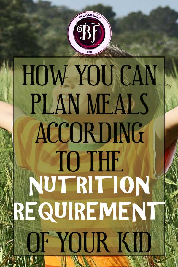 nutrition requirement of your kid
