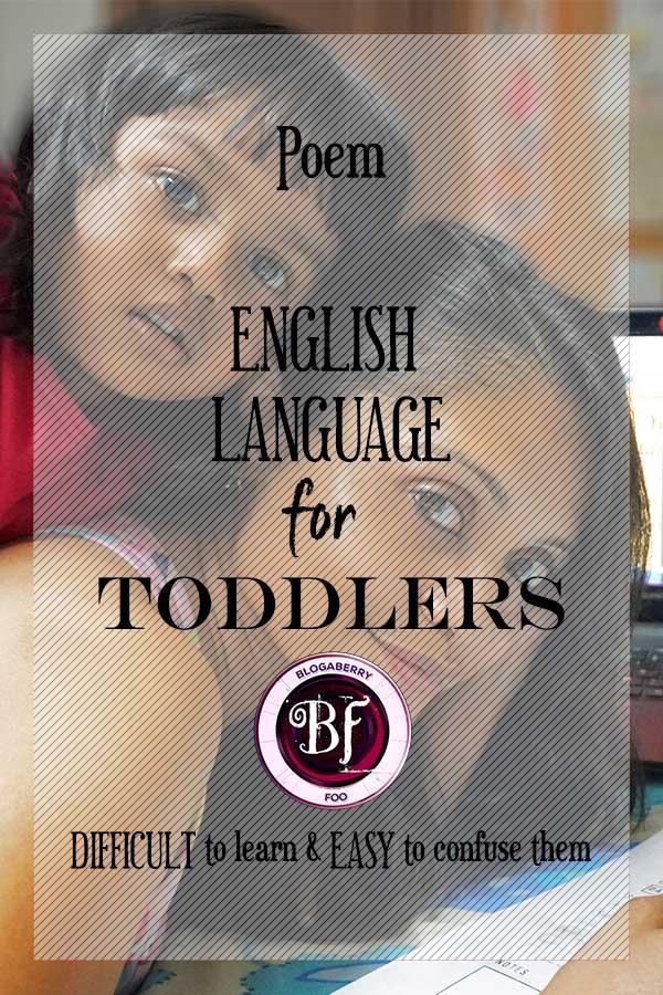 ENGLISH LANGUAGE FOR TODDLERS